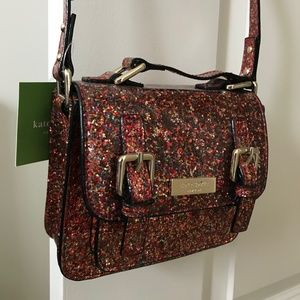 Kate Spade NWT Mini multicolor Glitter Scout Bag